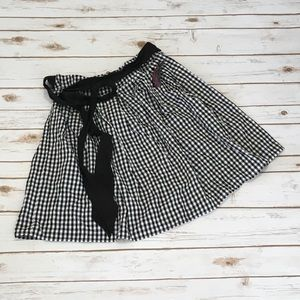 ModCloth Black White Gingham Checkered Skirt NWT